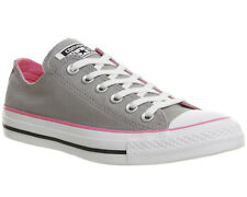 Womens Converse Converse All Star Low Trainers GREY PINK Trainers Shoes