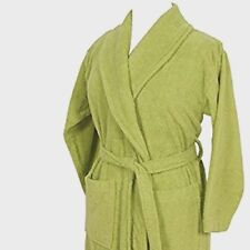 sage UNISEX  hooded- , EGYPTIAN COTTON TERRYTOWEL BATH ROBE DRESSING GOWN TOWEL