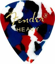 Fender 351 Classic Celluloid Guitar Picks - CONFETTI, HEAVY - 12-Pack (1 Dozen)