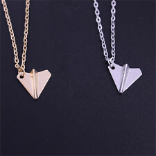 Men Fashion Paper Airplane One Direction Band Harry Styles Necklace Pendant