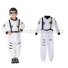Astronaut Space Man Kids Boys Halloween Costume Spaceman Jumpsuit M -XL