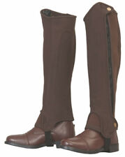 Tuffrider Grippy Nubuck Half Chaps with Elasticated Leg for Adults