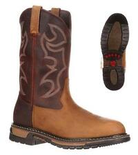 """NEW Rocky Boots BRANSON ROPER 10"""" Men's Leather Western Cowboy Boots FQ0002732"""