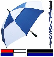 "48"" Double-Canopy Golf Fiberglass Umbrella - RainStoppers Rain/Sun UV"