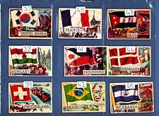 Flags of the World A&BC Gum small version 99p EACH..JUST PICK THE CARDS YOU NEED