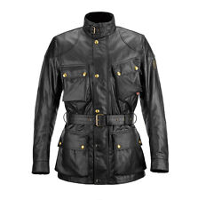 Belstaff Classic Tourist Trophy Black Motorcycle Waxed Cotton Jacket All Sizes