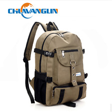 New Arcuate shouider strap zipper solid casual bag male backpack school bag