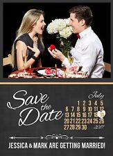 USA Map Save The Date Wedding Card & Envelopes Complete with Your Details