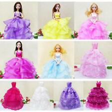 10'' Strapless Wedding Party Gown Dress Outfit for Barbie Girl Dolls Charms Gift