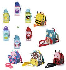 Skip Hop Zoo-let Mini Backpack With Rein and Zoo Straw Water Bottle PACK