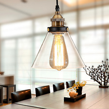 Glass Pendant Light Bar Lamp Lighting Shop LED Ceiling Lights Kitchen Chandelier