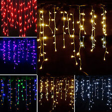 3.5M LED Icicle Hanging String Fairy Lights Curtain Christmas Wedding Party Xmas