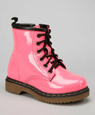 Coco Jumbo Fuchsia Patent Jane Boots Little Girls Size 11-3