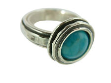 Sterling Silver 925 Ring Solitaire Ring Turquoise Turquoise Women's Ring