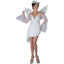 Ladies Philadelphia Heavenly Angel Fancy Dress Up Party Christmas Costume Outfit
