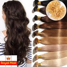 200S Remy Hair Extensions Pre Bonded U Nail Tip Real Human Hair 1g/s Straight UK