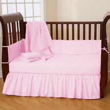 100% Cotton Baby Crib Bed Skirt/Dust Ruffle Skirt Solid Select Color