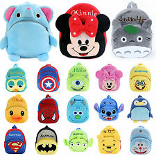 Cute Nursery Kids Boys Girls 3D Cartoon Schoolbag Backpack Plush Travel Rucksack