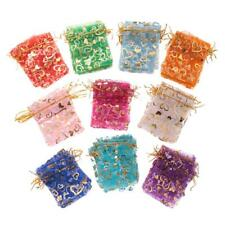 100 pieces Organza Wedding Party Favor Gift Bag Candy Bags Jewelry Pouches