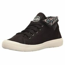 Palladium Aventure Black Womens Lace up Low top Trainers Sneakers New