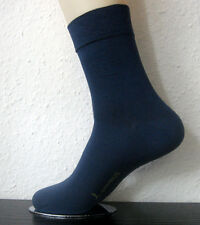 3 Pair Women's Bamboo Socks extra soft Soft rim without elastic Blau 35 bis 42