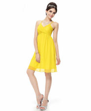 Sexy Yellow Charming Cross Straps Cocktail Party Dress