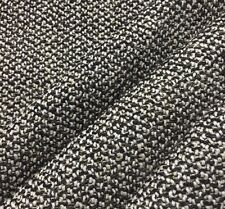HBF TEXTILES TWIST 927-90 BLACK AND WHITE NUBBY DURABLE UPHOLSTERY FABRIC