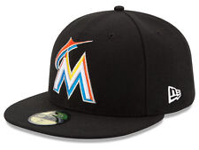 New Era Miami Marlins 2017 HOME 59Fifty Fitted Hat (Black) MLB Cap