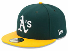 New Era Oakland Athletics 2017 HOME 59Fifty Fitted Hat (Green/Yellow) MLB Cap