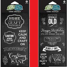 U CHOOSE Hampton Art LOL Laugh Out Loud Clear Stamps OFFICIALLY OLD & CRAFTING