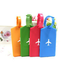 New Plane Silicone Travel Luggage Tags Baggage Suitcase Bag Labels Name Address