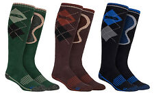 Storm Bloc - Mens Extra Long Knee High Cotton Argyle Walking Work Boot Socks