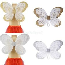 Glitter Princess Toddler Kids Girl Fairy Butterfly Wings Party Pixie Fancy Dress