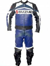 Suzuki MotorBike Leather Suit Sports Motorcycle Leather Suit With CE Armour suit