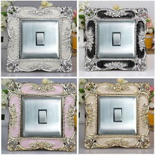 Square Acrylic Single Light Switch Surround Socket Finger Plate Panel Cover AS