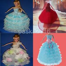Princess Formal Dress Ball Gown Wedding Fairy Tale Clothes for Barbie Dolls Gift