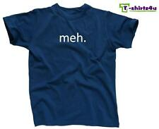 MEH Funny Geek Nerd Retro College Cool Party Tee - Mens T-Shirt - NEW - Blue