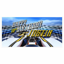 Racing Car Birthday Banner Personalized Custom Party Backdrop Decoration