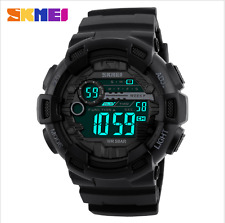 New SKMEI 50M Waterproof LED Digital Chronograph Shock Double Time Wristwatches