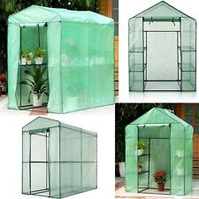 iKayaa Greenhouse Portable Mini Walk In Outdoor Green House Storage Shelves H8T7