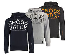CROSSHATCH Men's Sweatshirt Pullover SEVCON Hoody RIBBED PANELS Hoody