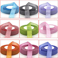 25 Yards 10mm 20mm Sparkle Glitter Velvet Ribbon Headband Clips Bow Decoration