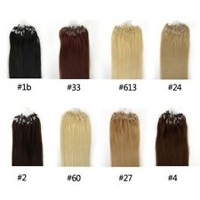 1g/s 100g  Micro Ring Loop Remy Human Hair Extensions
