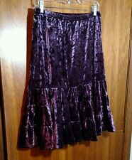 Crushed Purple Stretch Velvet Boho Ren Faire Full Skirt Costume New no Tags