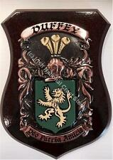 Connery to Corley Family Handpainted Coat of Arms Crest PLAQUE Shield