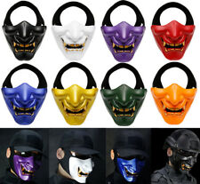 Halloween Costume Party Cosplay Motorcycle Airsoft Tactical Adult Half Face Mask