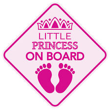 MAGNET REFLECTIVE LITTLE PRINCESS ON BOARD STICKER BABY CHILD CAR SIGN USA MADE