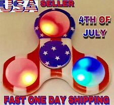 USA FLAG LED TRI SPINNER FIDGET, CAMOFLAGE,LED,GLOW IN THE DARK,CHRISTMAS GIFT