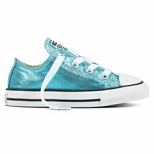 Converse CT All Star Ox Blue Kids Lace Up Trainers Canvas