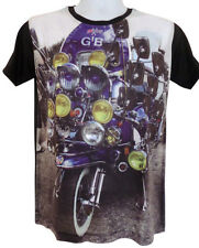 Classic vintage Vespa Scooter with Headlamps mirrors Stoke MOD Graphic T-Shirt